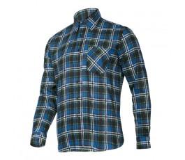 """lahtipro koszula flanelowa w kratę niebieska rozmiar """"s"""" lpkf3s"""