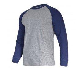 """lahtipro koszulka z długim rękawem 190g/m2 szaro-granatowa rozmiar """"xxl"""" l4022405"""