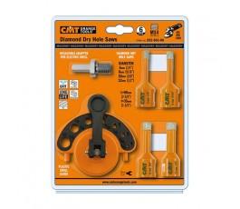 cmt zestaw otwornic i akcesoriów do pracy z szlifierkami kątowymi 552-501-06