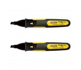 stanley zestaw 2 markerów czarnych fatmax z szeroką końcówką 473140