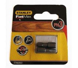 stanley zestaw 2 końcówek wkrętakowych fatmax torsion ph3x25mm 62022
