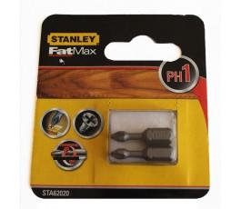 stanley zestaw 2 końcówek wkrętakowych fatmax torsion ph1x25mm 62020