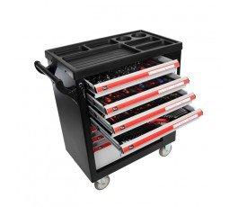 proline szafka narzędziowa 7 szuflad 79x49x101cm z wyposażeniem 206 elementów 33128