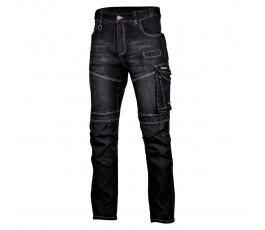 """lahtipro spodnie jeansowe czarne slim fit ze wzmocnieniami rozmiar """"s"""" l4051701"""
