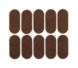 vorel zestaw 10 brązowych podkładek filcowych 20x45mm 74866