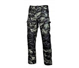"""spodnie bojówki moro zielone ze wzmocnieniami """"l"""""""