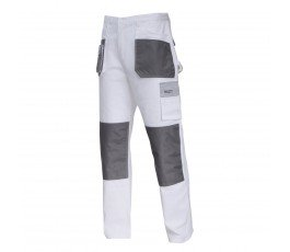 """lahtipro spodnie ochronne biało-szare rozmiar """"xl"""" l4051356"""