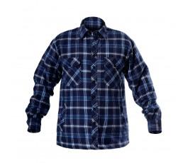 """lahtipro koszula flanelowa ocieplana granatowo-niebieska rozmiar """"s"""" l4180201"""