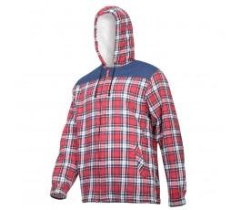 """lahtipro koszula flanelowa ocieplana wzmocniona czerwono-granatowa rozmiar """"xl"""" l4180704"""