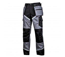 """lahtipro spodnie ochronne czarno-szare z odblaskami rozmiar """"xxl"""" l4051605"""