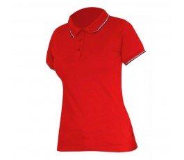 """lahtipro koszulka polo damska czerwona 190g/m2 rozmiar """"xxxl"""" l4031406"""