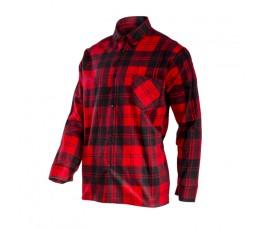 """lahtipro koszula flanelowa w kratę czerwona rozmiar """"l"""" l4180906"""