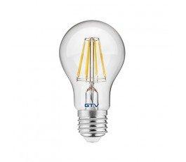gtv żarówka led filament a60 ciepła biała e27 8w 800lm ld-a60fl8-30