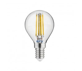 gtv żarówka led filament g45 ciepła biała 3000k e14 4w 400lm  ld-g45fl4-30