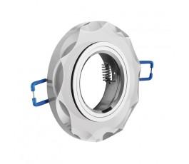 gtv sufitowa oprawa punktowa brillante szkło biały kryształ okrągła op-oprokr-10