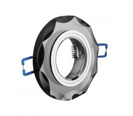 gtv sufitowa oprawa punktowa brillante szkło czarny kryształ okrągła op-oprokr-21