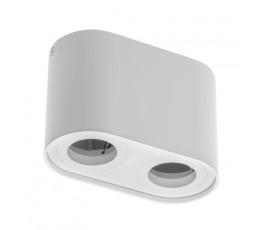 gtv oprawa sufitowa senso duo aluminiowa 83x165x110mm max 50w okrągła biała os-send5083okb-10
