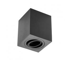 gtv oprawa sufitowa sensa aluminiowa 90x90x115mm max 50w kwadratowa czarna os-sen5097kwcz-00