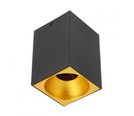 gtv oprawa sufitowa tensa aluminiowa 90x90x140mm gu10 kwadrat czarna os-tengu10kw-00
