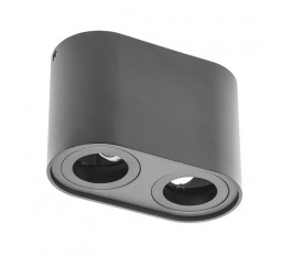 gtv oprawa sufitowa senso duo aluminiowa 83x165x110mm max 50w okrągła czarna os-send5083okcz-00