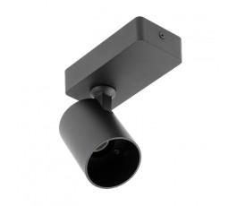 gtv oprawa ścienna santo aluminiowa max 20w pojedyncza okrągła czarna os-san20wok1-00