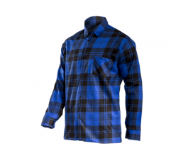 """lahtipro koszula flanelowa granatowa 170g/m2 rozmiar """"l"""" l4180803"""