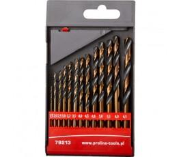 proline zestaw 13 wierteł do metalu hss 1.5-6.5mm 79213