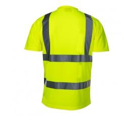 """lahtipro koszulka t-shirt ostrzegawcza żółta rozmiar """"m"""" l4020802"""