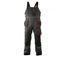 """lahtipro spodnie robocze szaro-czarne na szelkach rozmiar """"l"""" (52) lpsr0252"""