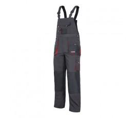 """lahtipro spodnie robocze szaro-czarne na szelkach rozmiar """"2l"""" (54) lpsr0254"""