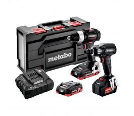metabo zestaw combo akumulatorowej wiertarko-wkrętarki bs 18 lt bl se + akumulatorowego zakrętaka udarowego ssw 18 ltx 400 bl se