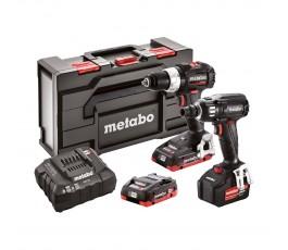 metabo zestaw combo akumulatorowej wiertarko-wkrętarki sb 18 lt bl se + akumulatorowego zakrętaka udarowego ssw 18 ltx 400 bl se