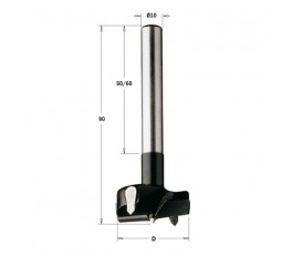 cmt wiertło puszkowe hw rh d=18 l=90 s=10x60mm z chwytem cylindrycznym 512.180.11