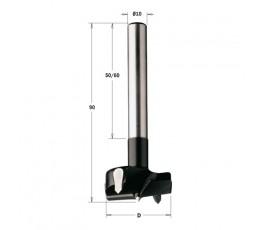 cmt wiertło puszkowe hw rh d=19 l=90 s=10x60mm z chwytem cylindrycznym 512.190.11