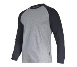 """lahtipro koszulka z długim rękawem szaro-czarna rozmiar """"l"""" l4022303"""