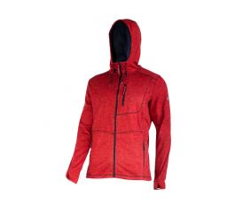 """lahtipro bluza z kapturem i suwakiem czerwona rozmiar """"m"""" ce l4013402"""