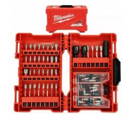 milwaukee zestaw 73 bitów udarowych shockwave impact duty + akcesoria 4932471588
