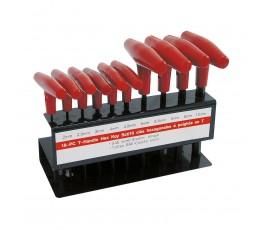 """mega zestaw 10 kluczy imbusowych typu """"t"""" 2-10mm 48110"""