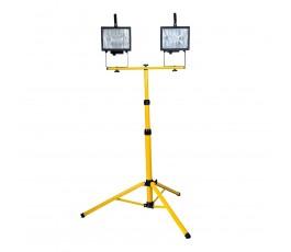 mega podwójna lampa halogenowa na statywie 2x500w ce 66157