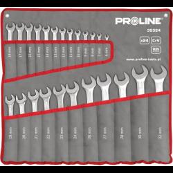 zestaw kluczy płasko-oczkowych 24 części 6-32mm proline