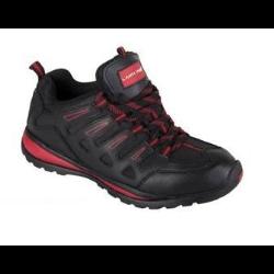 lahtipro półbuty skóra/oxford czarno-czerwone rozmiar 43 l3040243