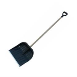 profix łopata do śniegu plastikowa 48,5x39,5cm z trzonkiem drewnianym 12342