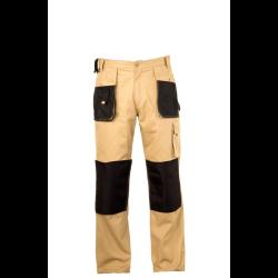 spodnie beżowe 100% bawełna l (52) lahtipro