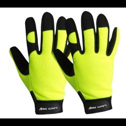 """lahtipro rękawice warsztatowe czarno-żółte rozmiar """"xl"""" l280310k"""