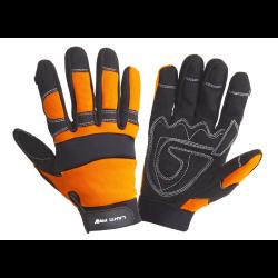 rękawice warsztowe czarno-pomarańczowe xl (10) , lahtipro