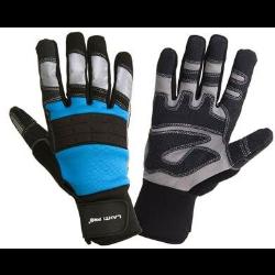 rękawice warsztatowe czarno-niebieskie rozmiar l (9), lahtipro