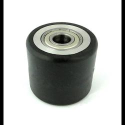 rolka aluminiowo-gumowa średnica80mm 2x łożysko 6204 , zabi