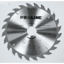 piła tarczowa do drewna 160mm 24 zęby redukcja 20/16mm, proline