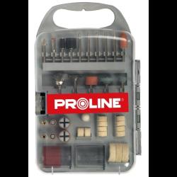 proline zestaw 71 akcesoriów do mini szlifierki + pudełko plastikowe 93171