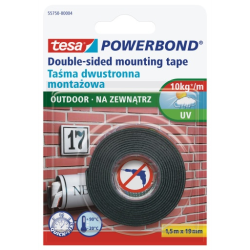 taśma montażowa powerbond na zewnątrz 1,5m:19mm, tesa